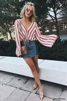 Forever 21 Colorblocked Denim Mini Skirt