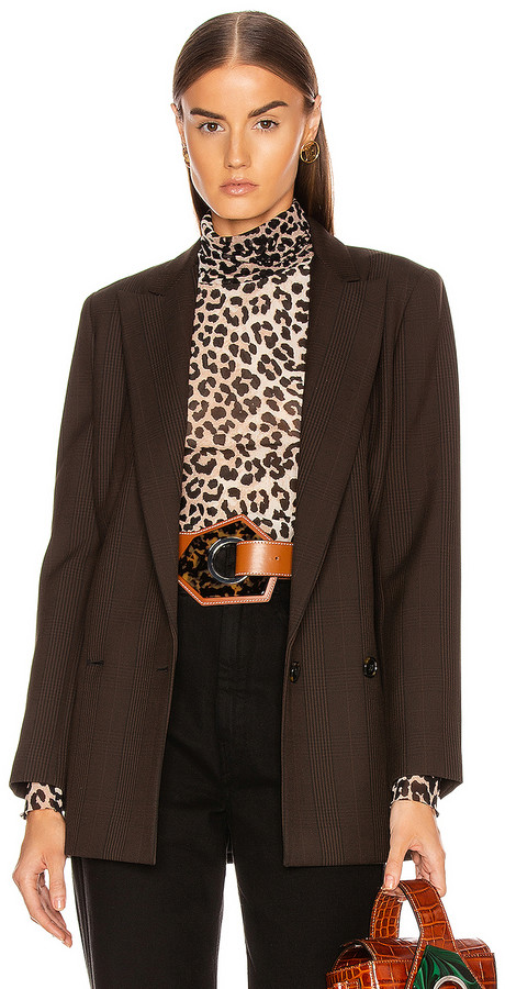 Ganni Suiting Blazer in Mole | FWRD