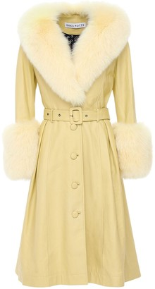 Saks Potts Foxy Leather Coat W/ Fox Fur