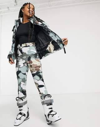 Asos 4505 ski super skinny pants with stirrup in camo