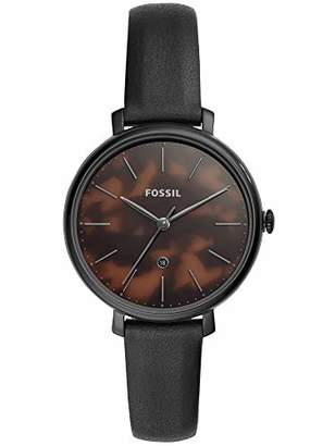 Fossil Womens Analogue Quartz Watch with Real Leather Strap ES4632