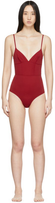 Ernest Leoty Red Philippine One-Piece Swimsuit