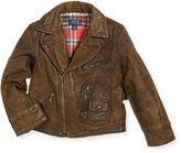 Ralph Lauren Leather Cafe Racer Jacket, Size 5-7