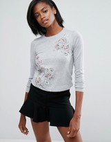 Oasis Floral Embroidered Sweater