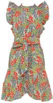Banjanan Audrey Ruffle-Sleeve Mini Dress