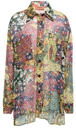 Missoni Floral-print Silk-georgette Shirt