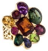 Christian Dior Gemset Gold Cluster Ring
