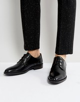 Tommy Hilfiger Daytona Leather Derby Shoes In Black