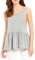 Free People Cantina Scoop Neck Sleeveless Peplum Tank