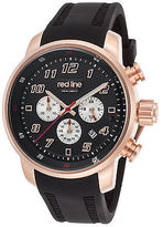 Redline Red Line 303C-RG-01 Men's Topgear Chrono Black Silicone and Dial Rose-Tone