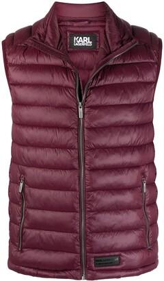 Karl Lagerfeld Paris Sleeveless Quilted Jacket