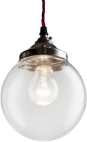 Old School Electric - Brown Glass Globe Pendant Light - Small