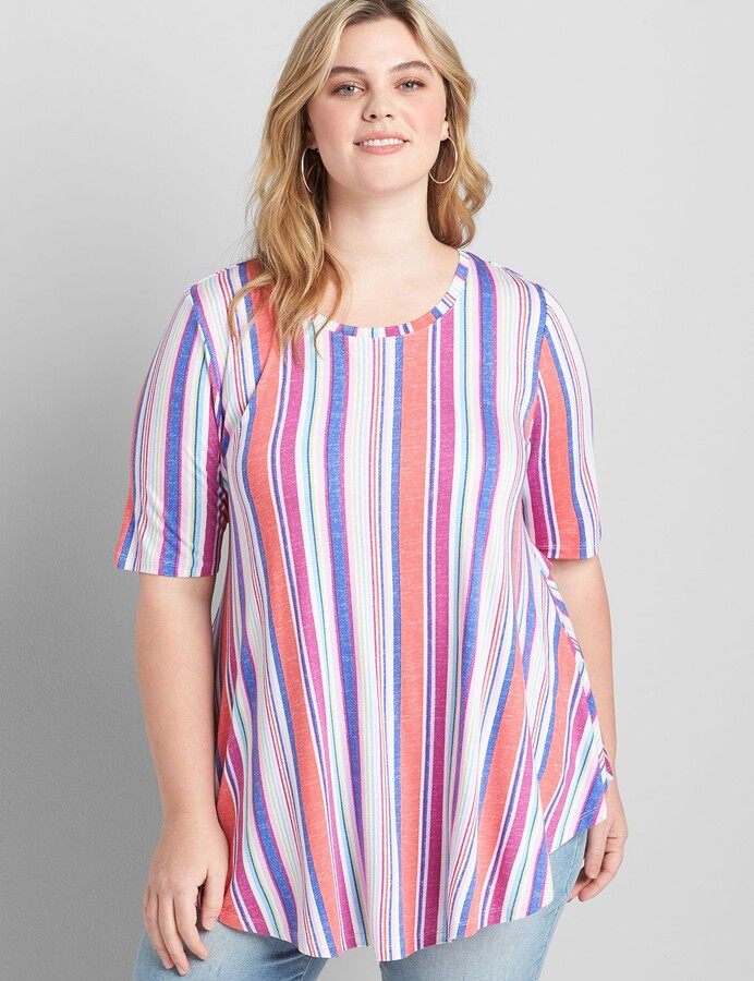 Thumbnail for your product : Lane Bryant Perfect Sleeve Max Swing Tunic Tee
