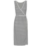 Jil Sander STRIPED WRAP DRESS