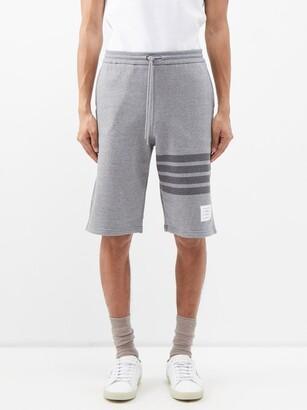 Thom Browne Four-bar Cotton-jersey Shorts - Grey