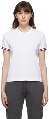 Thom Browne Online Exclusive White Pique RWB Stripe T-Shirt