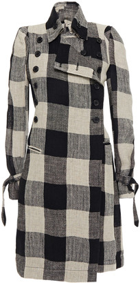 Ann Demeulemeester Gingham Linen Coat