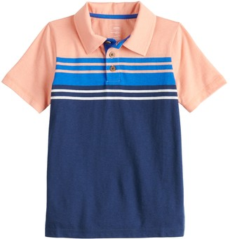 Sonoma Goods For Life Boys 4-12 Striped Polo in Regular, Slim & Husky