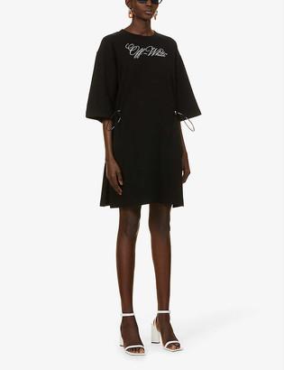Off-White Coulisse logo-print cotton mini dress
