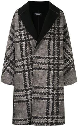 Undercover Knit-Print Oversized Coat