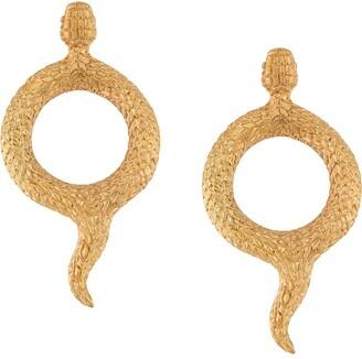 Natia X Lako Round Snake Earrings