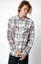 RVCA Camino Plaid Flannel Long Sleeve Button Up Shirt
