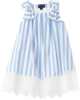 Oscar de la Renta Awning Stripe Dress