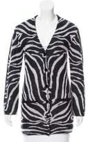 Carven Zebra Patterned Mohair-Blend Cardigan