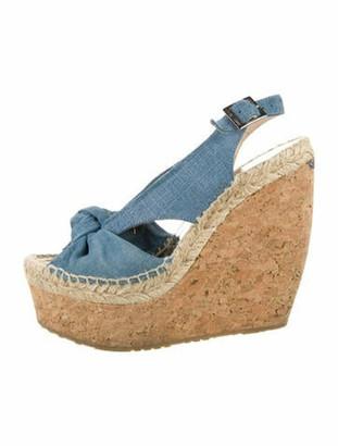 Jimmy Choo Slingback Sandals Blue
