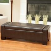 Home Loft Concepts Eastport Leather Storage Ottoman