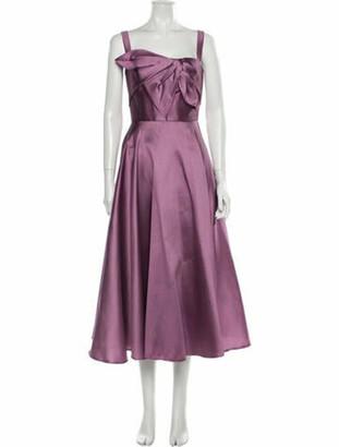 Marchesa Notte Square Neckline Long Dress Purple