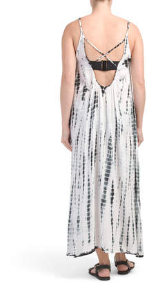Tie Dye Maxi Swimsuit Cover-up Dress