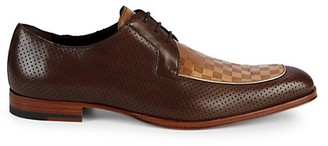 Mezlan Perforated Leather Derbys