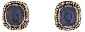 David Yurman Chalcedony & Diamond Albion Earrings