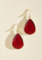Receiving Drop Honors Earrings in Red