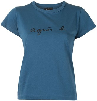 agnès b. logo embroidered T-shirt