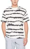 New Look Men's Tie Dye Stripe T-Shirt