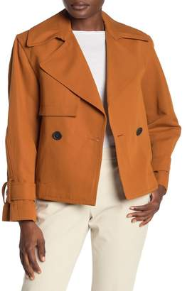 Vince Cropped Belted Jacket