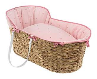 Clair De Lune Lullaby Stars Hyacinth Moses Basket - Blush
