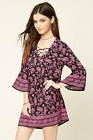 Forever 21 FOREVER 21+ Floral Print Bell-Sleeved Dress