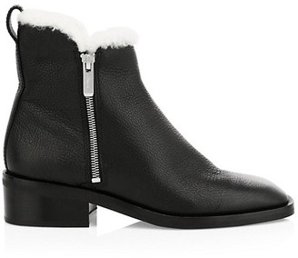 3.1 Phillip Lim Alexa Shearling-Lined Leather Ankle Boots