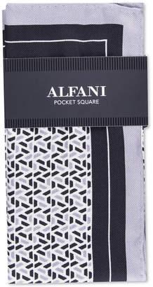 Alfani Men Geometric Silk Pocket Square