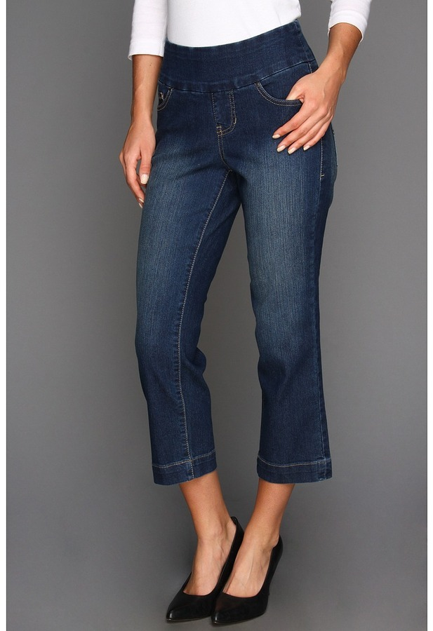 Jag Jeans Fenmore Pull-On Crop in Blue Shadow (Blue Shadow) - Apparel