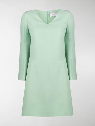 Valentino V-Neck Shift Short Dress