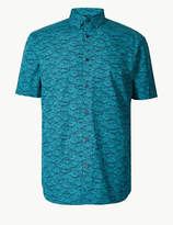 M&S CollectionMarks and Spencer Pure Cotton Fish Print Shirt