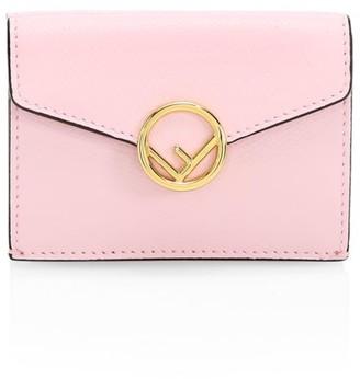 Fendi Small Tri-Fold Leather Wallet