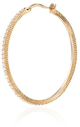 Foundrae 18kt Yellow Gold Diamond Hoop Earrings