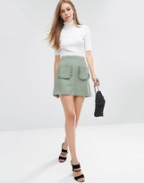 Asos A-Line Mini Skirt with Ruffle Pocket