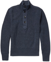 Tom Ford - Ribbed Cashmere And Linen-blend Sweater