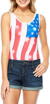 Hybrid Tees Americana Flag Bodysuit-Juniors